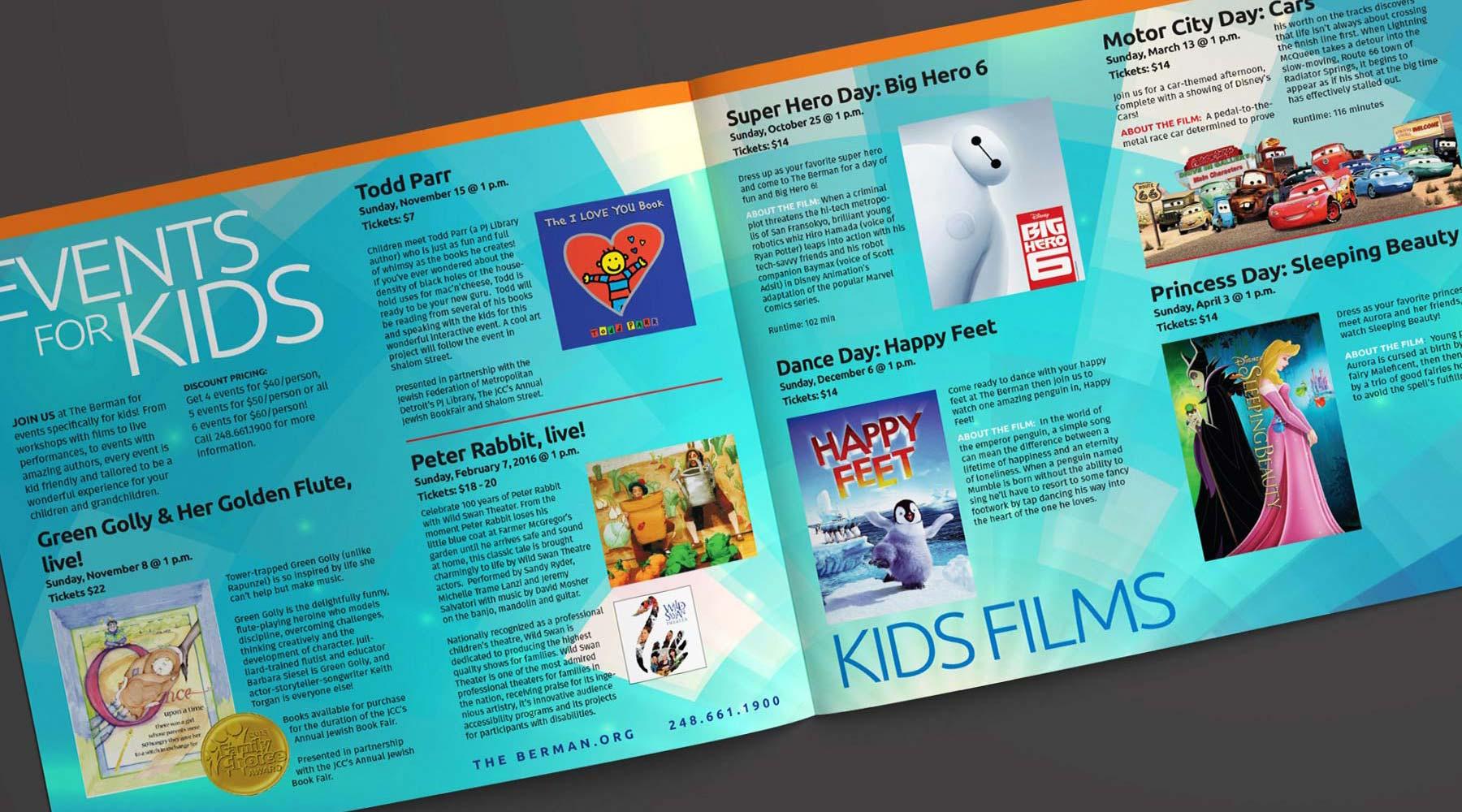 The Berman Theater 2017-18 Kids Season brochure