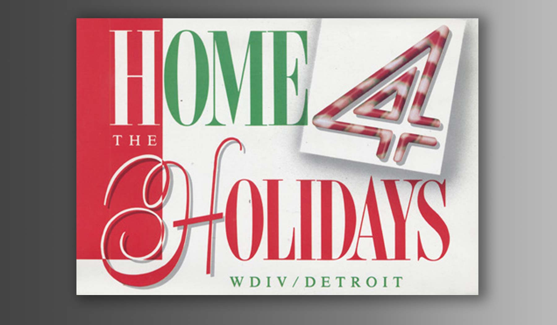 Vintage Holiday Card WDIV