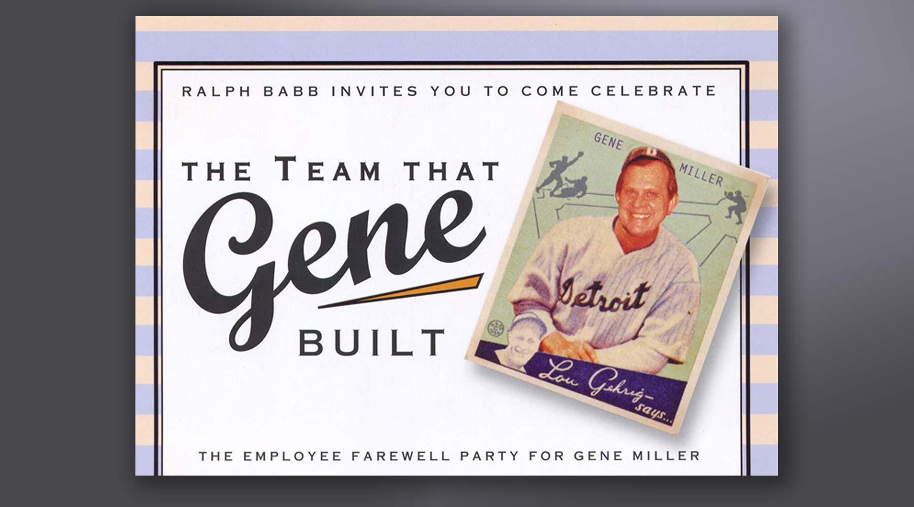 Gene Miller Invitation