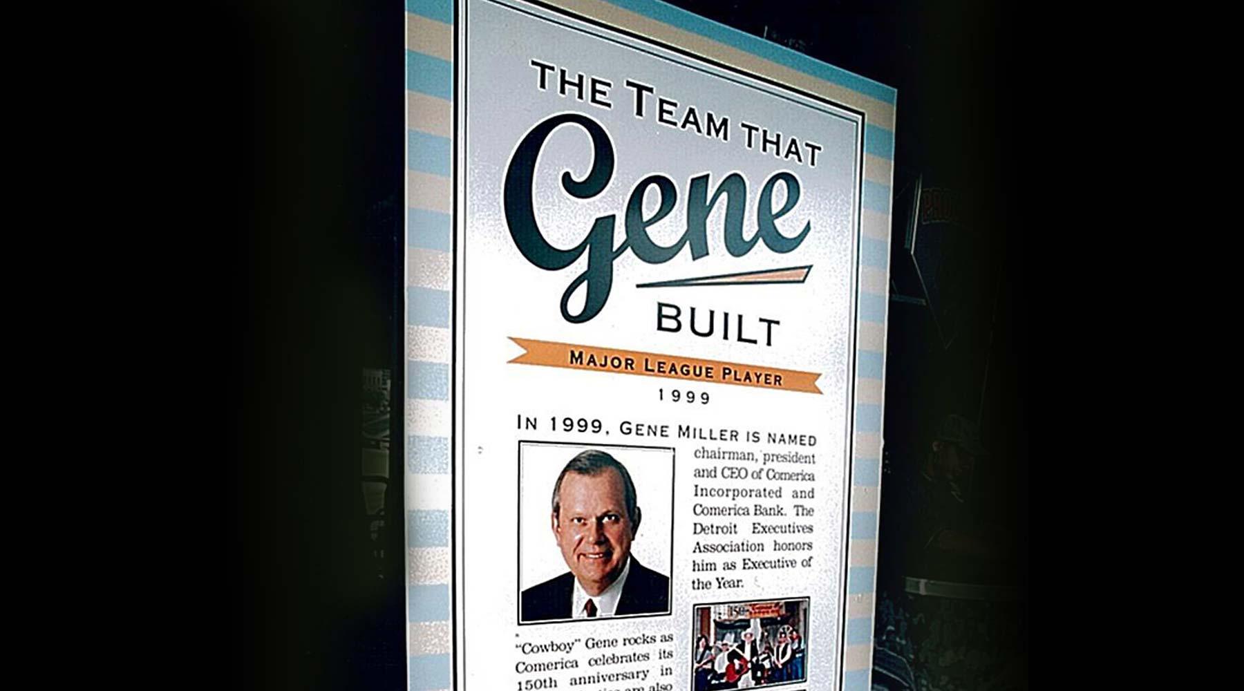 Gene Miller event signage