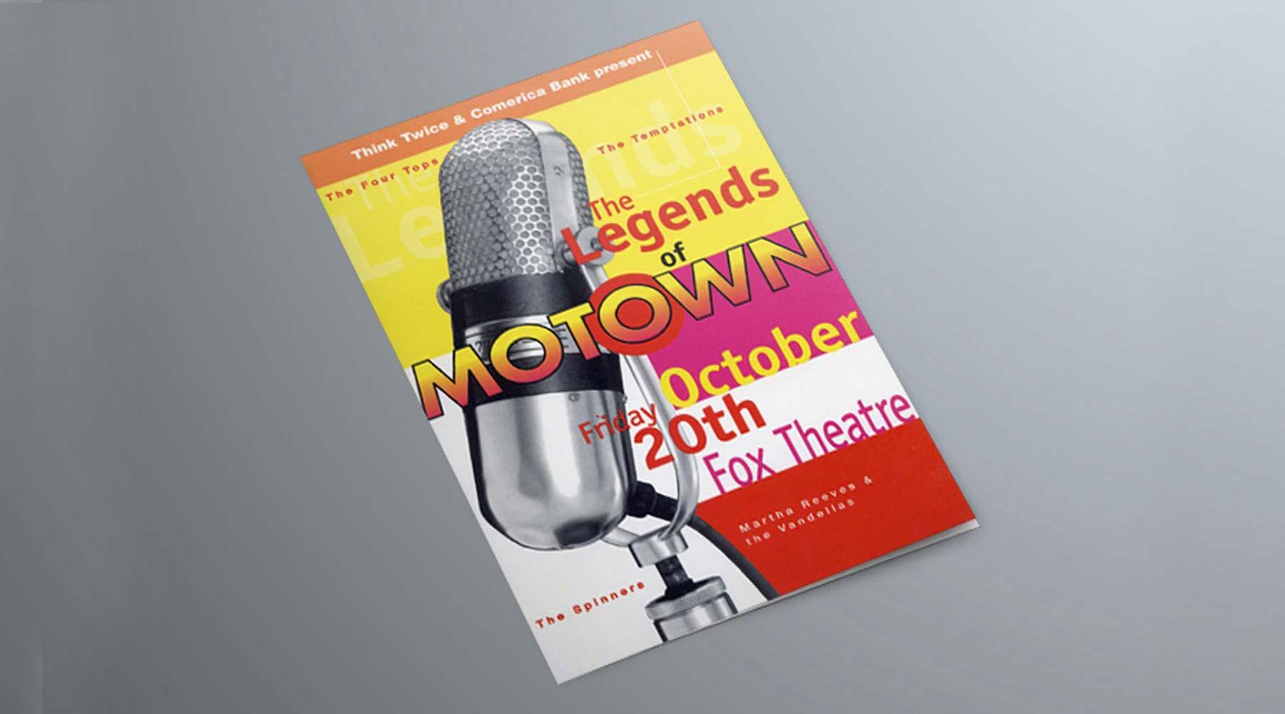 Vintage Motown Concert Invitation