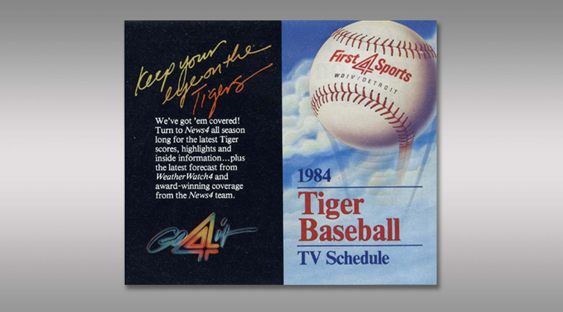 Vintage Baseball Calendar